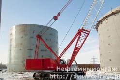 Строительство резервуаров компанией ЗАО «Нефтехиммонтаж»