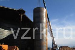 Монтаж стальных вертикальных резервуаров руллонным способом