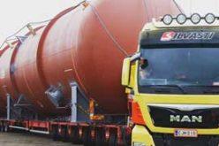 Спецоперация по доставке сверхгабаритного резервуара из Эстонии в Финляндию