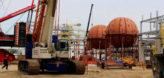 установка шаровых резервуаров
