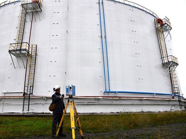 Нефтяные резервуары АНПЗ проверили 3d-сканером