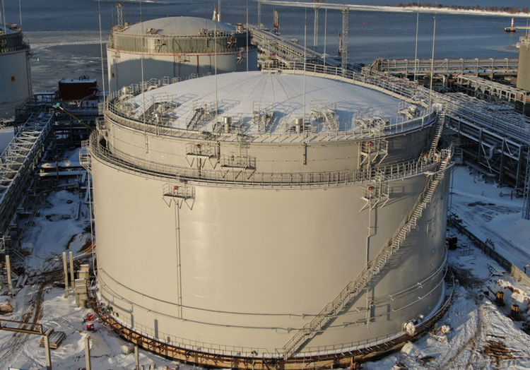 двустенный резервуар 40 000 куб.м.