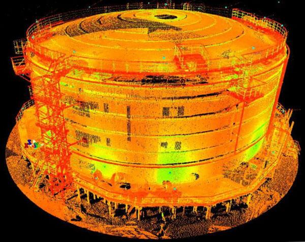 3D-лазерное сканирование емкостей